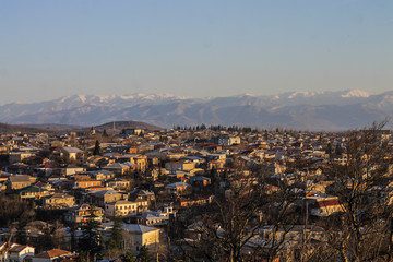 kutaisi cityscape in early spring