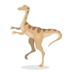 Gallimimus dinosaur isolated.