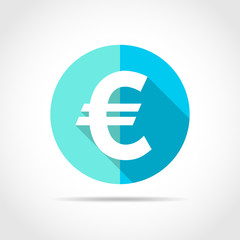 EURO currency icon. Vector illustration.
