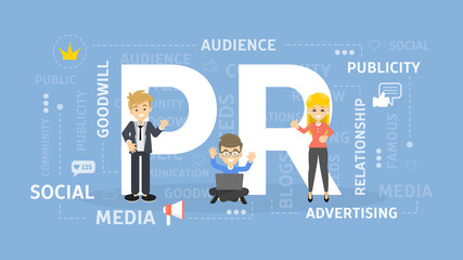 PR concept illustration.
