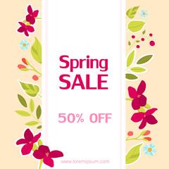 Spring sale card.