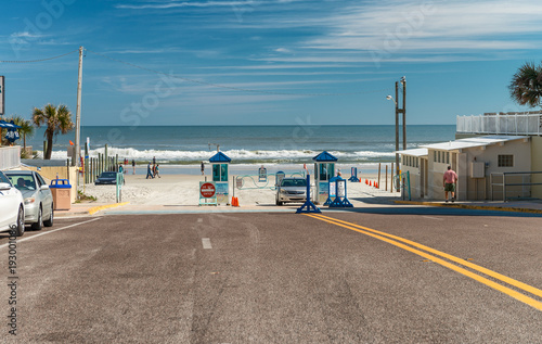 Daytona Beach Fl February 17 2016 Entrance Of Road
