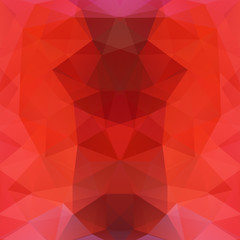 Abstract background consisting of red triangles. Geometric design for business presentations or web template banner flyer. Vector illustration