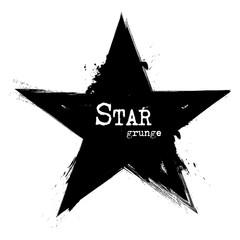 Star shape . Grunge style . Vector
