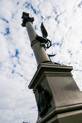 Inclined Photo of Column Monument from Downwards