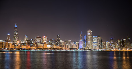 Big City Skyline at Night