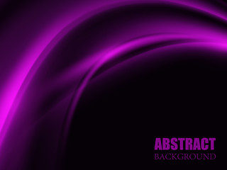 Abstract purple wave background. Vector illustration