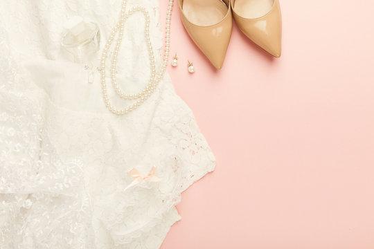 Wedding preparation closeup