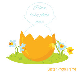 Easter baby photo frame