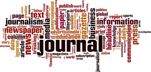Journal word cloud concept