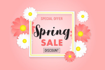 Poster Background Promotion Banner Special Offer Spring Sale Discount