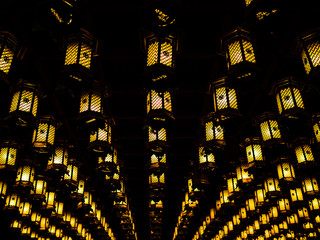 Japanese bronze lanterns