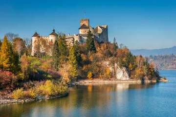 Castle in Nidzica, Czorsztyn Reservoir, Autumn, Poland