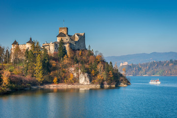 Castle in Nidzica, Czorsztyn Reservoir, Poland