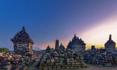PLAOSAN temple located in north east of Prambanan complex, near Yogyakarta city, Indonesia.