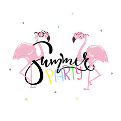 Summer life lettering text.