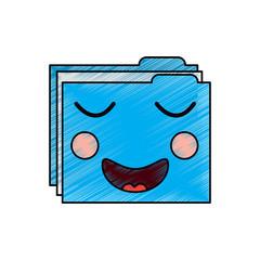 folder file document kawaii character vector illustration drawing image