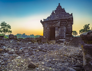 One of main temple in Southern PLAOSAN temple complex. This temple present and found in Central Java, Klaten, Indonesia.