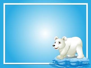 Frame template with cute polar bear