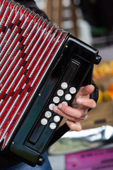 The accordion, an instrument widely used in Basque culture