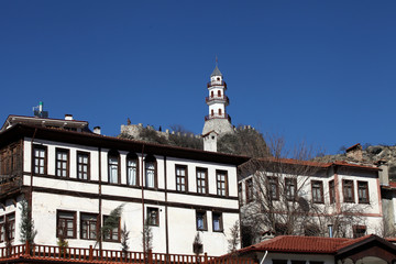 Victory Tower and Traditional Ottoman Homes in Goynuk, Bolu