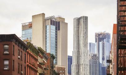 Manhattan old and modern architecture, New York City, USA.