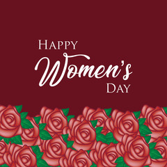 Happy women's day with rose