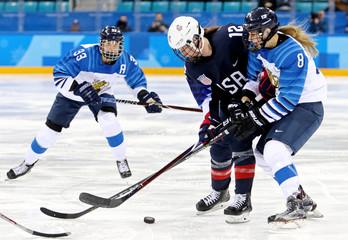 Olympics: Ice Hockey-Women Team Semifinal - USA-FIN