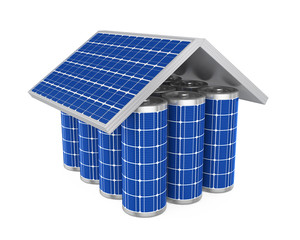 House Solar Battery Isolated