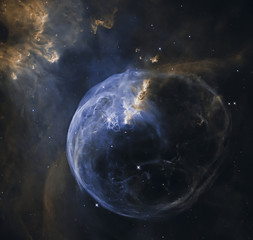 Bubble Nebula in Cassiopeia constellation. Elements of this image furnished by NASA.