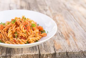 Fusilli al ragù di pesce, Italian Pasta
