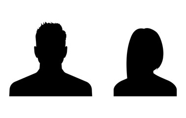 Business avatars. Man and woman profile icons