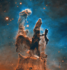 Pillars of Creation. Elements of this image furnished by NASA.