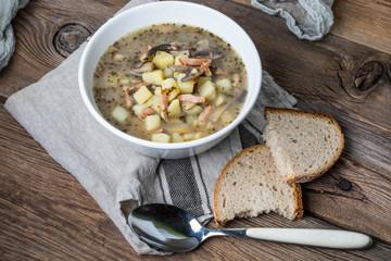 Sour rye soup.