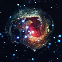 Supernova Explosion, in constellation Monoceros. Elements of this image furnished by NASA. Retouched image.
