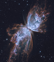 The Butterfly Nebula. Elements of this image furnished by NASA. Retouched image.