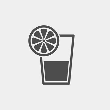 Juice flat vector icon