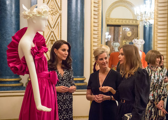 Royals Catherine, Sophie and designer McCartney attend reception to celebrate the Commonwealth Fashion Exchange at Buckingham Palace in London