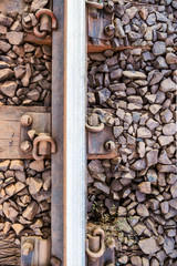 Train track close up