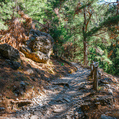 Samaria Gorge in central Crete, Greece
