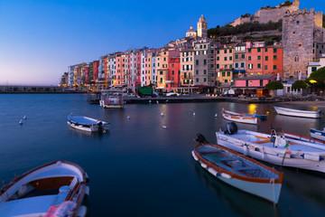 Image of Portovenere La Spezia city at sea view