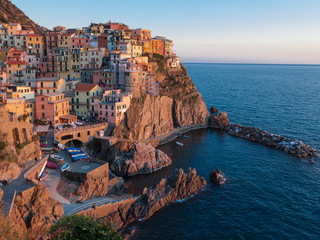 UNESCO World Heritage Site of Manarola, Cinque Terre, Italy