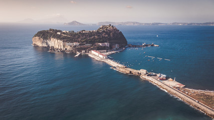 View of the island of Nisida in Campania