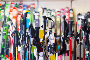 Image of modern skis