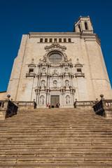 Foto auf Acrylglas Denkmal Girona Cathedral in Catalonia, Spain, Romanesque, Gothic and Baroque architecture