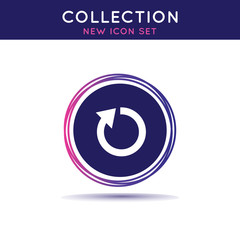 General collection icon set. Restart sign.