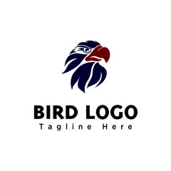 elegant abstract eagle head art logo