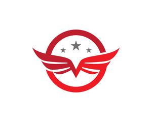 Falcon Wing Logo Template