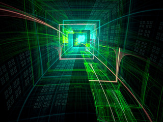 Technology tunnel - abstract digitally generated image