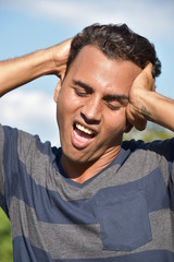 Colombian Male Under Stress